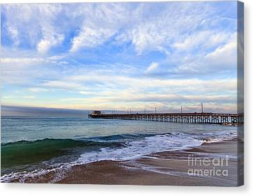 Newport Beach Pier Canvas Print by Paul Velgos