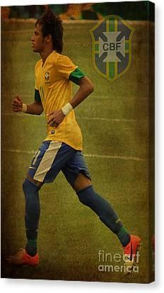 Neymar Junior Canvas Print - Neymar Junior by Lee Dos Santos