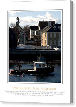Nh Working Harbor Canvas Print by Jim McDonald Photography