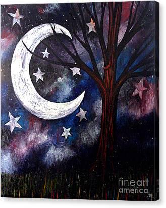 Night Gazing Canvas Print by Monica Furlow