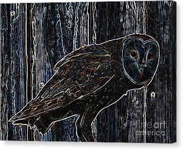 Night Owl - Digital Art Canvas Print by Carol Groenen