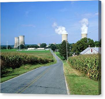 Nuclear Power Station Canvas Print
