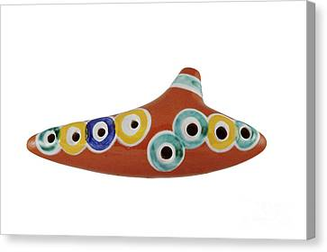 Burned Clay Canvas Print - Ocarina by Michal Boubin