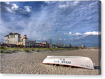 Ocean City Beach Canvas Print by John Loreaux