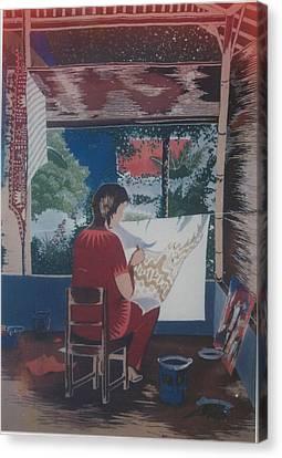 Of Me By Me Canvas Print by Elisabeth Van der Horst