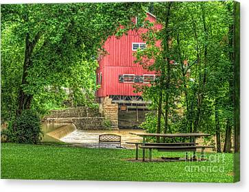 Old Indian Mill Canvas Print by Pamela Baker