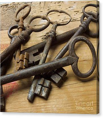 Old Keys Canvas Print by Bernard Jaubert