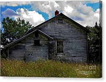 Old School Houses Canvas Print - Old School by Kris Napier