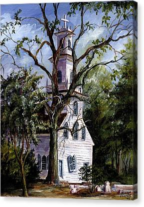 Old St. David's Church Canvas Print by Gloria Turner