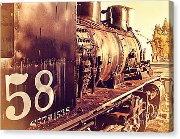 Old Steam Locomotive Engine 1258 . 7d10467 Canvas Print by Wingsdomain Art and Photography
