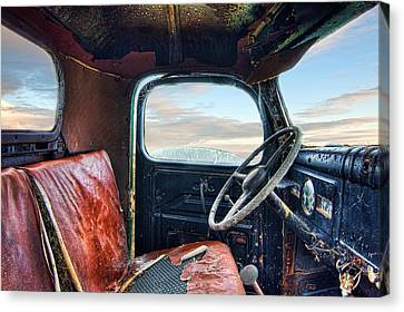 Old Truck Interior Canvas Print by Tim Fleming