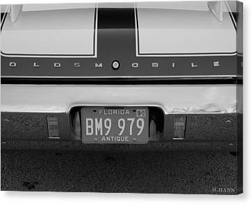 Olds Cs In Black And White Canvas Print by Rob Hans