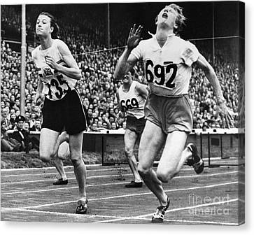 Footrace Canvas Print - Olympic Games, 1948 by Granger