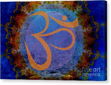 Om Canvas Print by Sacred  Muse