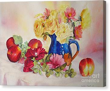 Canvas Print featuring the painting Once Upon A Summer by Beatrice Cloake