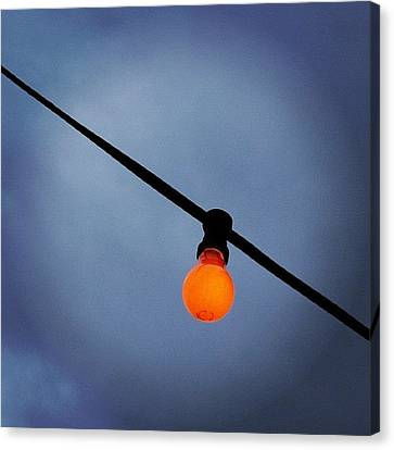 Orange Light Bulb Canvas Print