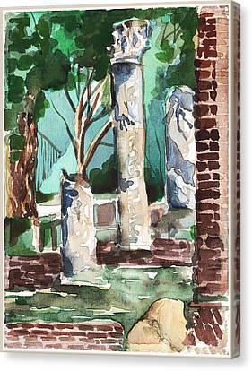 Ostia Antica Canvas Print by Mindy Newman