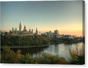 Canvas Print featuring the photograph Ottawa by Josef Pittner