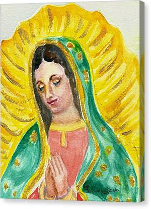 Our Lady Of Guadalupe Canvas Print by Susan  Clark