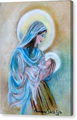 Our Mary's Love Canvas Print by Annamarie Sidella-Felts