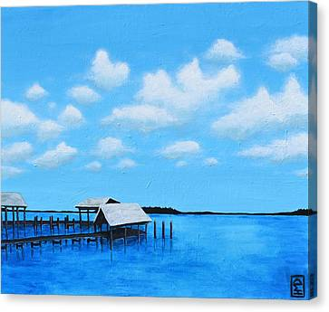 Out To Sea Canvas Print by Holly Donohoe