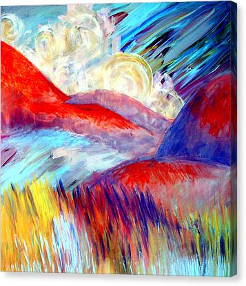 Canvas Print featuring the painting Over And Away by Monica Furlow