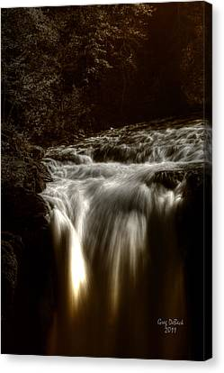 Over The Top Canvas Print by Greg DeBeck