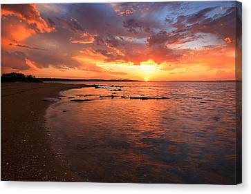 Oyster Cove Sunset Canvas Print by Paul Svensen