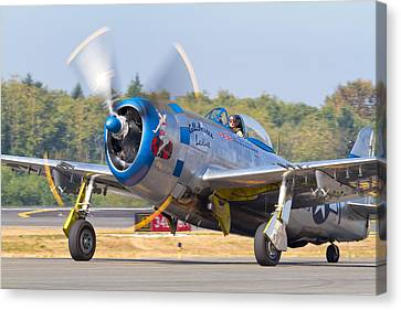P-47d Thunderbolt Canvas Print by John Cagle