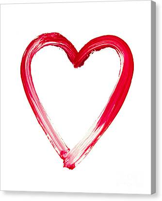 Painted Heart - Symbol Of Love Canvas Print by Michal Boubin