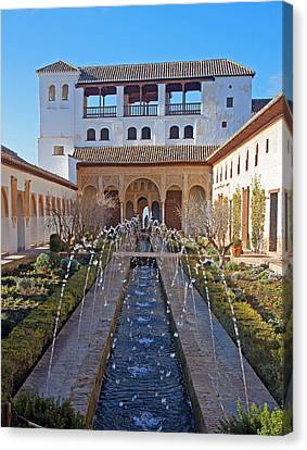 Palace Of The Generalife Canvas Print