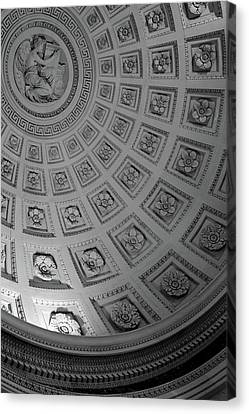 Pantheon Dome Canvas Print by Sebastian Musial