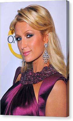 Paris Hilton At A Public Appearance Canvas Print by Everett