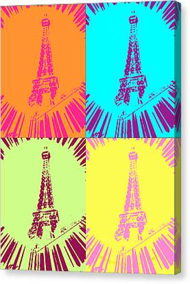 Paris In Vegas Canvas Print by Amber Hennessey