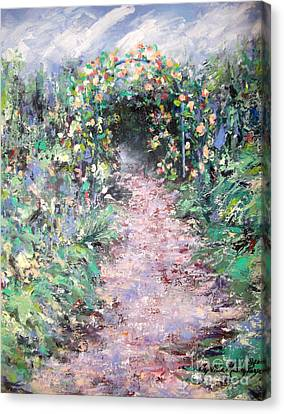 Parsons Garden Walk Canvas Print