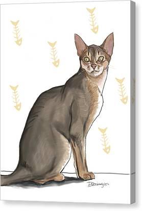 Pastel Cat Canvas Print by Mario Domingues