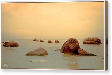 Pastel Rocks Canvas Print by Allan Rufus