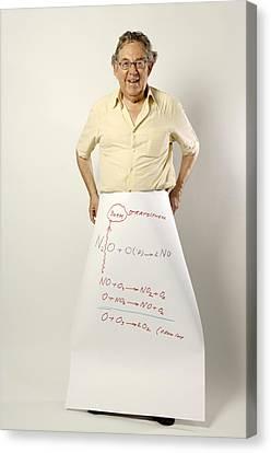 Paul J. Crutzen, Dutch Chemist Canvas Print by Volker Steger