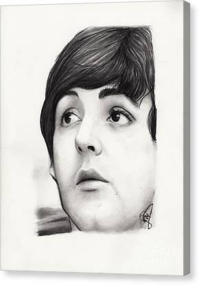 Paul Mccartney Canvas Print by Rosalinda Markle