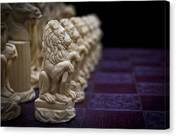 Pawns In A Row Canvas Print by Doug Long