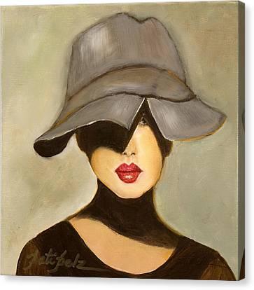 Peekaboo Hat Canvas Print