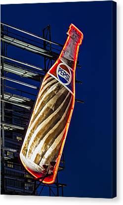 Pepsi Cola Bottle Canvas Print by Susan Candelario