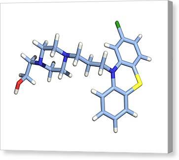 Perphenazine Antipsychotic Drug Canvas Print by Dr Tim Evans