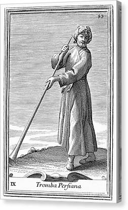 Persian Trumpet, 1723 Canvas Print by Granger