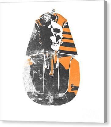 Pharaoh Stencil  Canvas Print by Pixel  Chimp