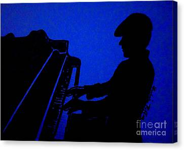 Piano Man Canvas Print by Julie Brugh Riffey