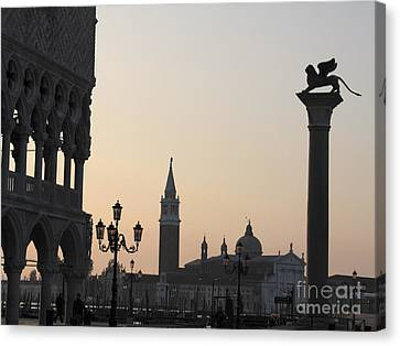 Venise Canvas Print - Piazetta. Venice by Bernard Jaubert