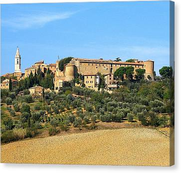 Pienza On The Hill Canvas Print by Diane Height