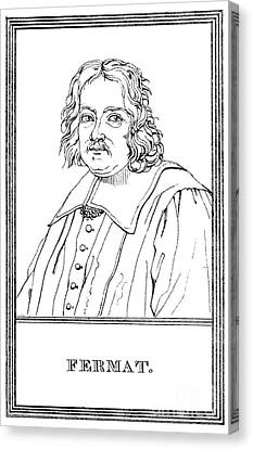 Pierre De Fermat, French Mathematician Canvas Print by Science Source