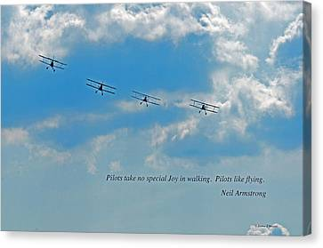 About Neil Armstrong Canvas Print - Pilots by Jonathan E Whichard